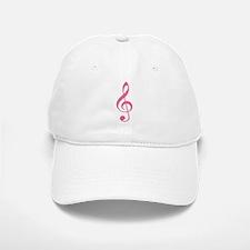 Pink Music G-Clef Baseball Baseball Cap