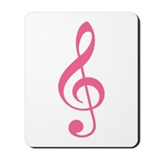 Pink Music G-Clef Mousepad
