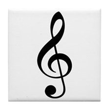 Music G-Clef Tile Coaster