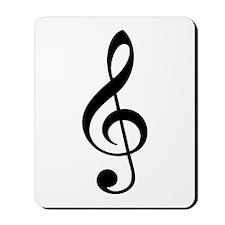 Music G-Clef Mousepad
