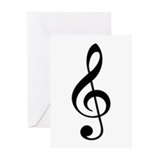 Music G-Clef Greeting Card