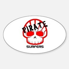 Pirate Surfers Logo Oval Decal