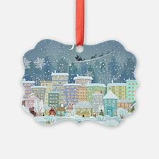 Snowy Urban Christmas Village Ornament