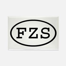 FZS Oval Rectangle Magnet