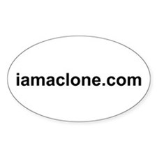 I Am A Clone Oval Decal