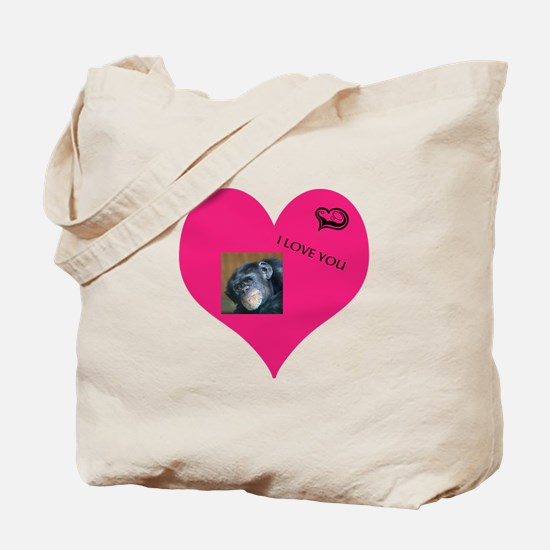 Template for YOUR FOTO - Love Tote Bag