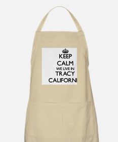 Keep calm we live in Tracy California Apron