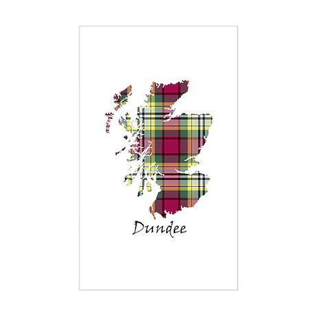 Map - Dundee dist. Sticker (Rectangle)