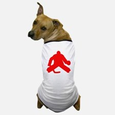 Red Hockey Goalie Dog T-Shirt