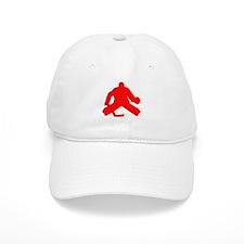 Red Hockey Goalie Baseball Baseball Cap
