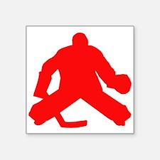 Red Hockey Goalie Sticker