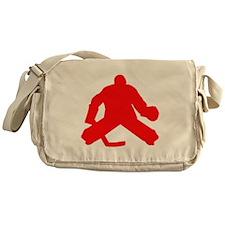 Red Hockey Goalie Messenger Bag