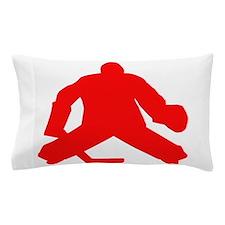 Red Hockey Goalie Pillow Case