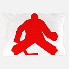 Red Hockey Goalie Pillow Case