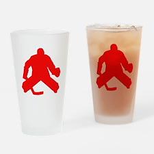 Red Hockey Goalie Drinking Glass