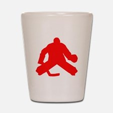 Red Hockey Goalie Shot Glass