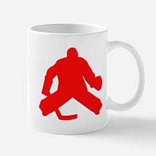 Red Hockey Goalie Mugs
