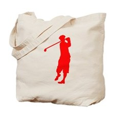Red Golfer Tote Bag