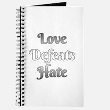 Love Defeats Hate Journal