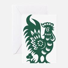Rooster Chinese Astrological Zodiac Greeting Cards
