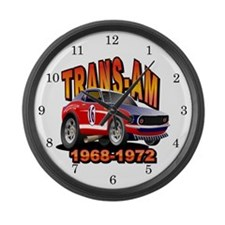 Trans Am Racing Series Large Wall Clock