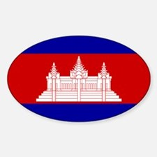 Cambodia Flag Oval Decal