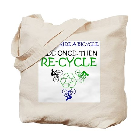 Bicycle Recycle Tote Bag