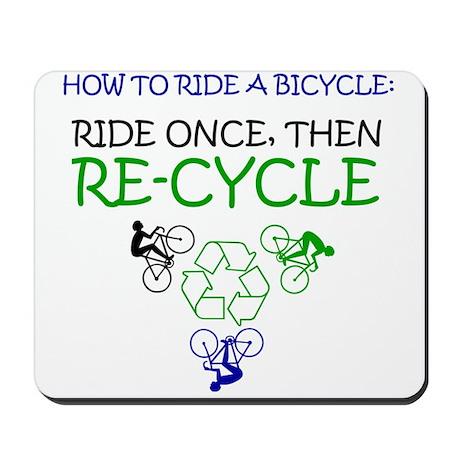 Bicycle Recycle Mousepad