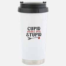 Cupid Rhymes With Stupid Ceramic Travel Mug