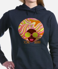 Soul_Sistah_br.png Women's Hooded Sweatshirt