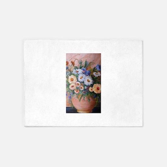 Presidential Floral arrangement 5'x7'Area Rug