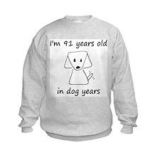 13 dog years 6 Sweatshirt