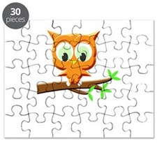Little Owl On A Branch Puzzle