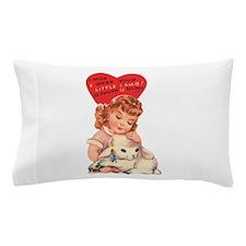 Vintage little lamb illustration Pillow Case