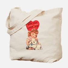 Vintage little lamb illustration Tote Bag