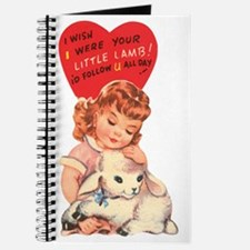 Vintage little lamb illustration Journal