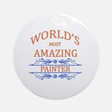 Painter Round Ornament