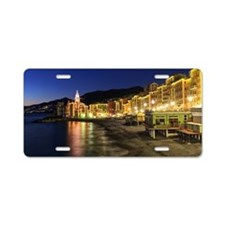 Camogli at evening Aluminum License Plate