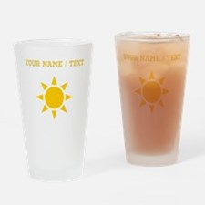 Custom Orange Sun Drinking Glass