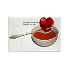 Valentines- Heart Soup Rectangle Magnet