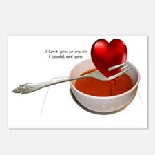 Valentines- Heart Soup Postcards (Package of 8)