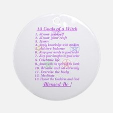 13 Goals of a Witch Ornament (Round)