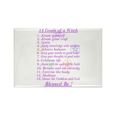 13 Goals of a Witch Rectangle Magnet (10 pack)