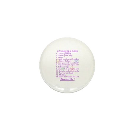 13 Goals of a Witch Mini Button (10 pack)