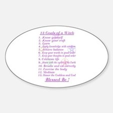 13 Goals of a Witch Oval Decal