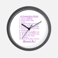 13 Goals of a Witch Wall Clock