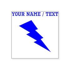 Custom Blue Lightning Sticker