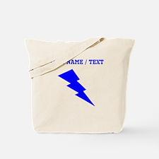 Custom Blue Lightning Tote Bag