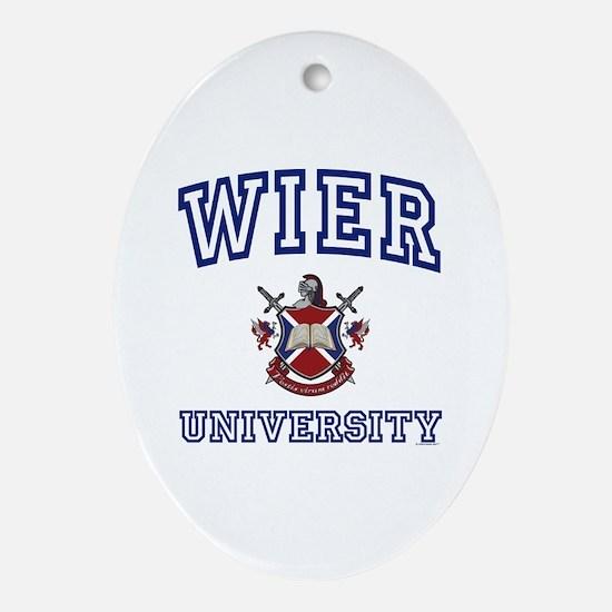WIER University Oval Ornament