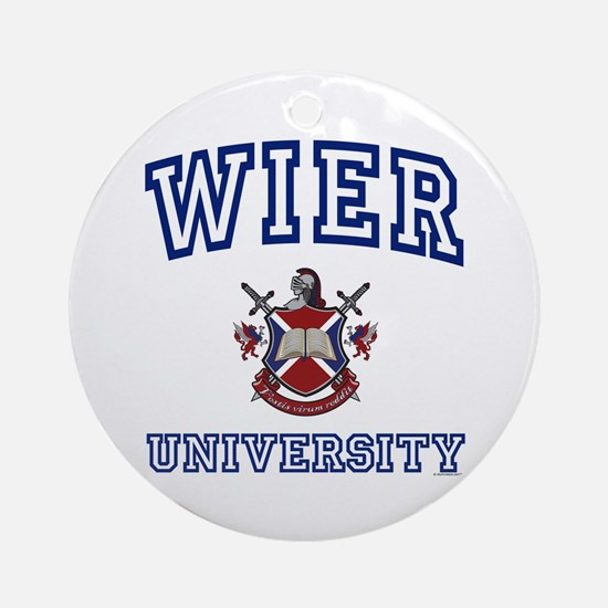 WIER University Ornament (Round)